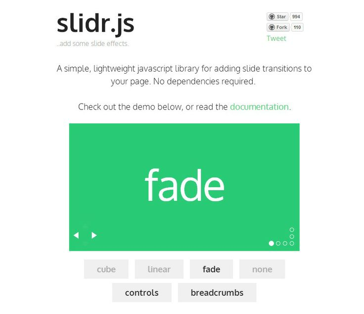 Slidr.js :: A simple, lightweight javascript library for adding slide transitions to your page. No dependencies required.