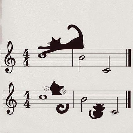 cats, silhouettes, music - great mix!