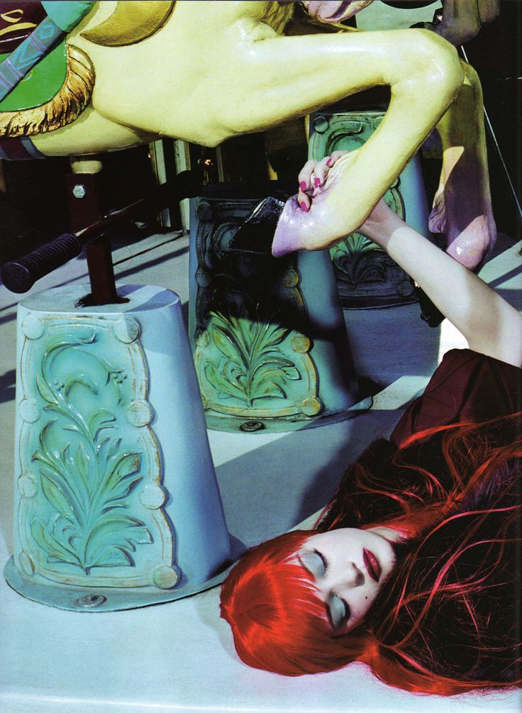 Magazine: Numéro #84 (June/July 2007) Title: Le Manège Enchanté Photographer: Miles Aldridge Model: Diana Moldovan