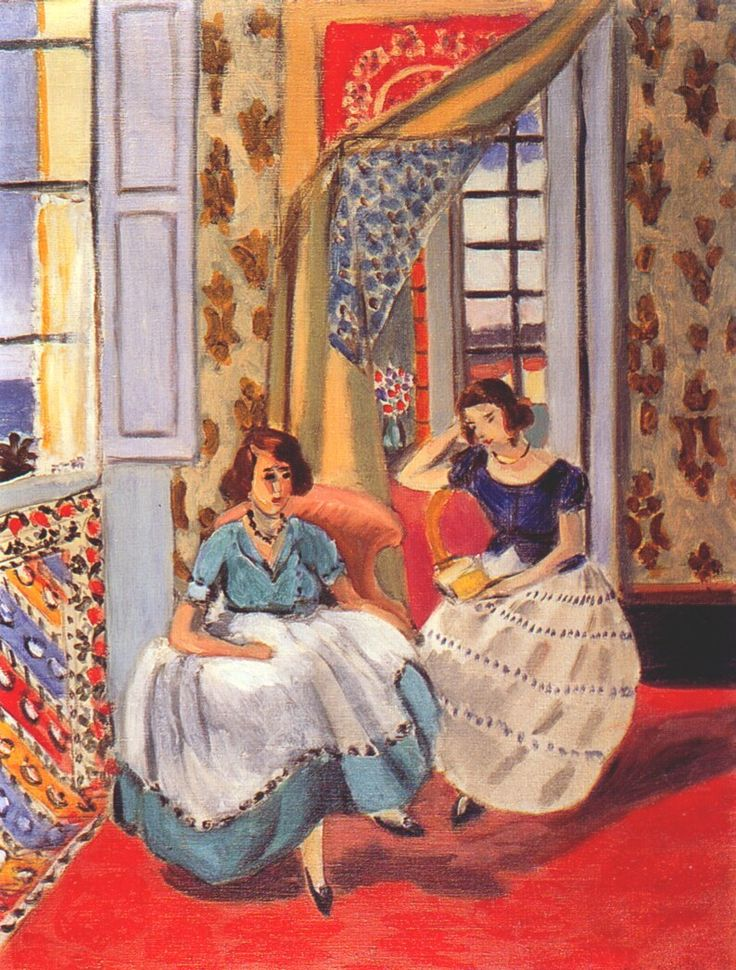 Two Girls in Nice by Henri Matisse, 1921