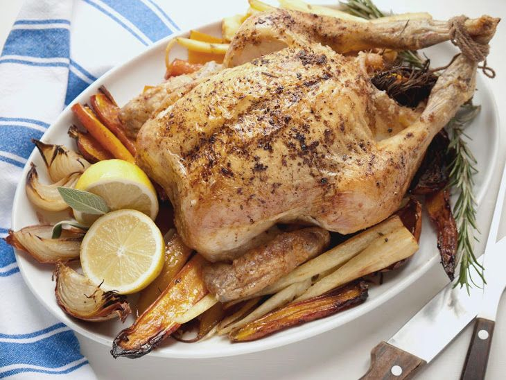 Roast Chicken with Roasted Root Vegetables #recipe via The ...