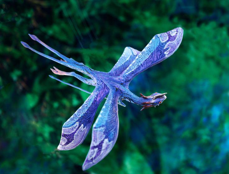 James Cameron Avatar Tetrapteron Pandora movie shamanic altar figurine sculpture…