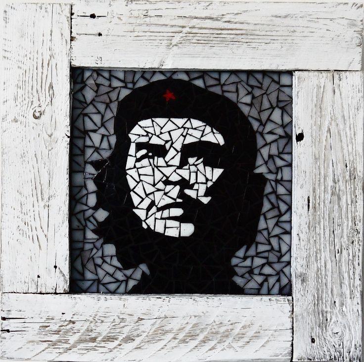 Che Guevara in shabby chic frame 60×60 cm