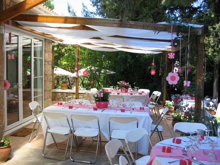 Outdoor baptism party ideas d kayla 39 s baptism party for Baby girl baptism decoration ideas