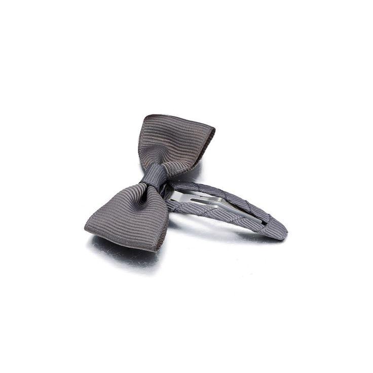 Sløjfespænder - fint lille hårspænde i grå