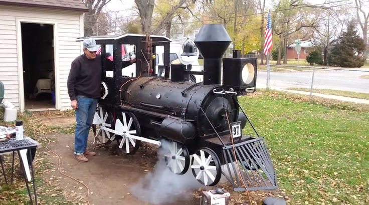 This awesome Dad spent three years building a train BBQ smoker