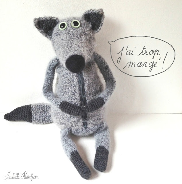 wolf crochet (I need a wolf pack--literally)