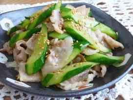 豚肉ときゅうりの中華炒め