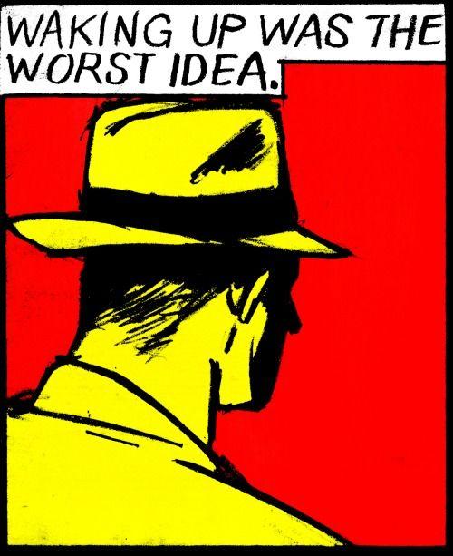 """Waking up was the worst idea""| vintage comics | pop art | sleep"