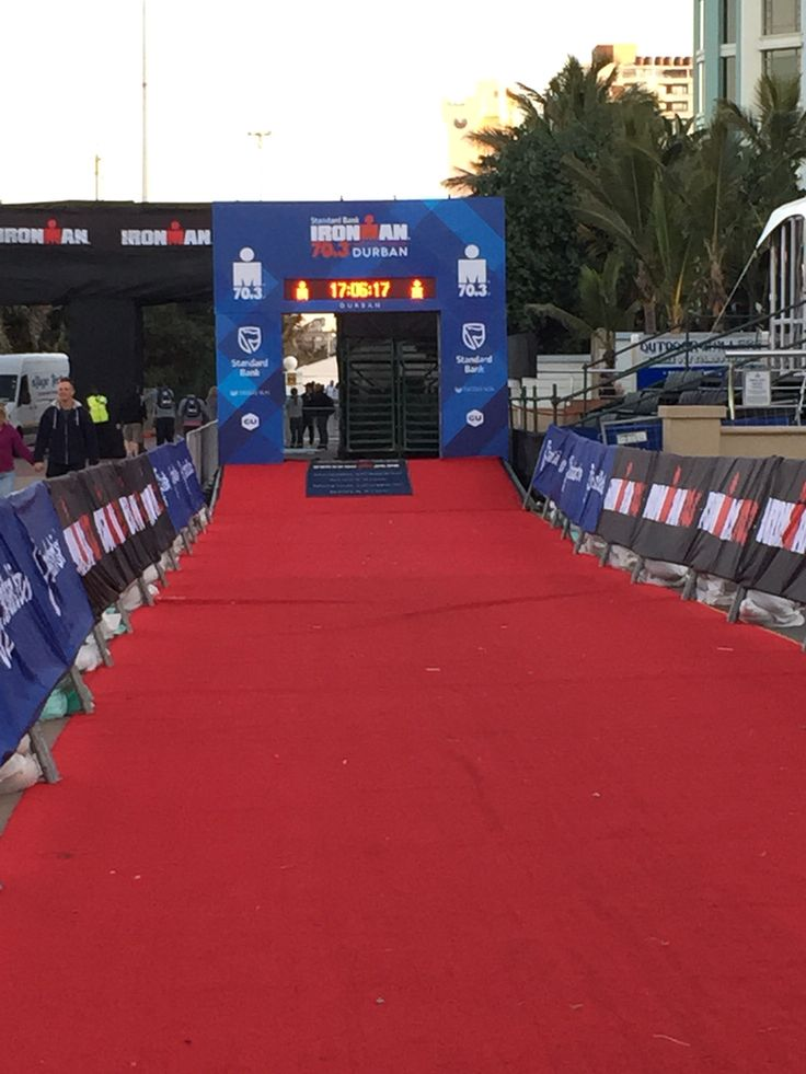 Red carpet prep #triathlon #raceday