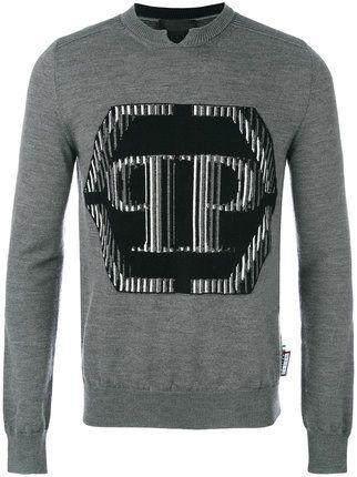 Shop Philipp Plein leather bomber jacket.