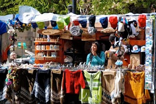 We shopped for local handicrafts - Punta Arenas, #Chile while cruising from Lima to Buenos Aires.