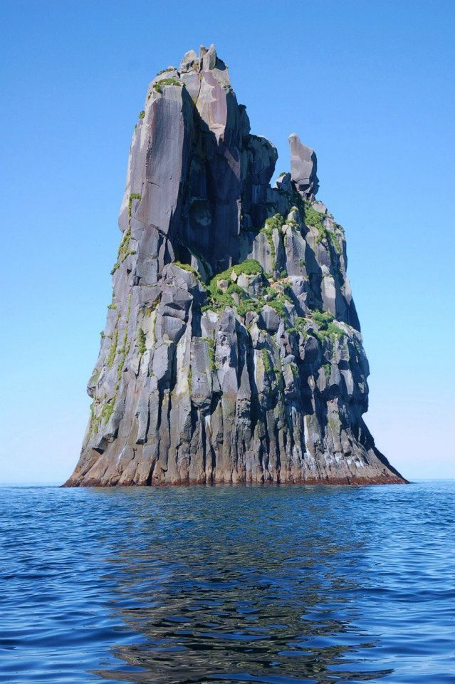 Urup Island, Russia.  Urup is an uninhabited volcanic island in the Kuril Islands chain in the south of the Sea of Okhotsk, northwest Pacific Ocean