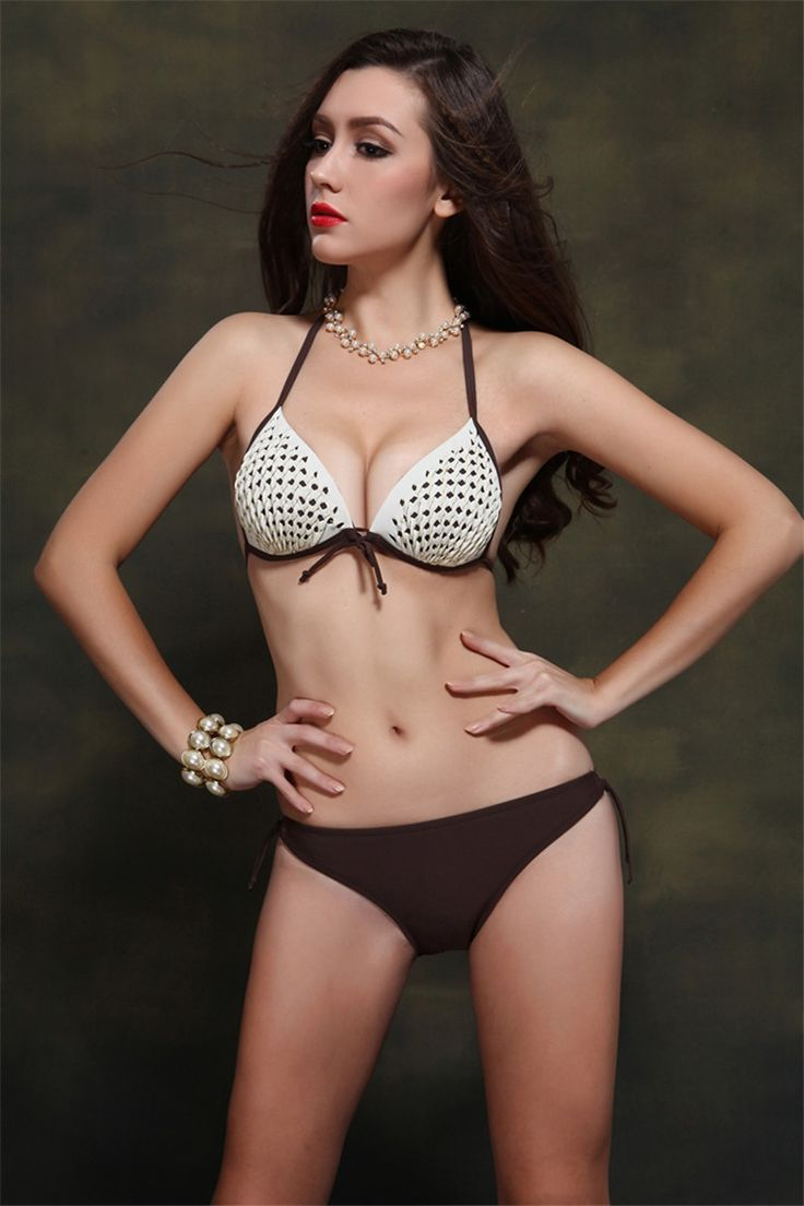 Good dress Bikini Girl Swimsuit de Dos Piezas Sexy Halter Reúne Traje de Baño de la Ropa Interior, Azul, 42