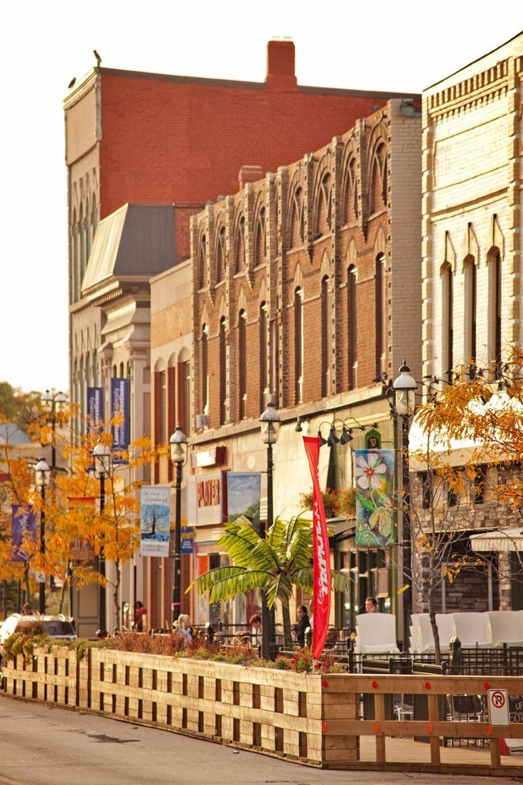 Downtown Barrie, Ontario - (the pin via Sarah • https://www.pinterest.com/pin/288863763573567143/ )
