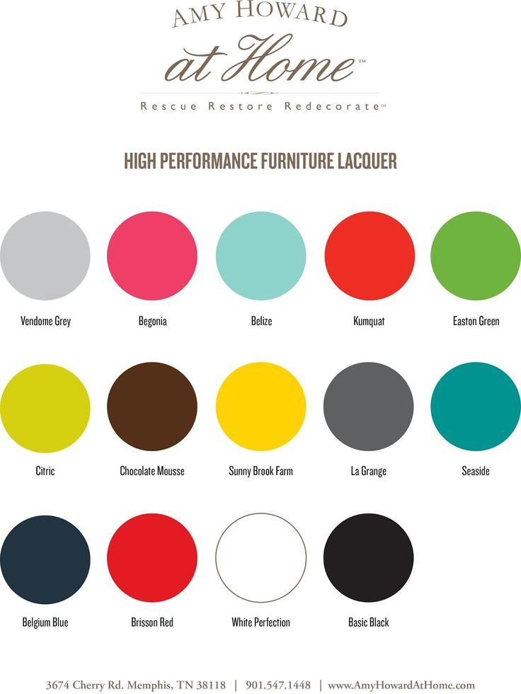 Amy Howard Lacquer Paint Colors