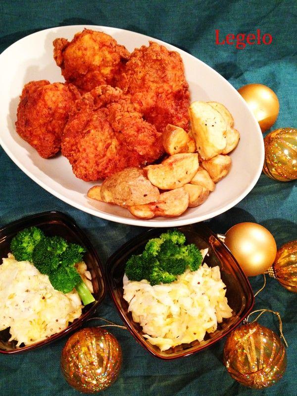 スパイスハーブ鶏胸肉 クリスマス フライドチキン レシピ