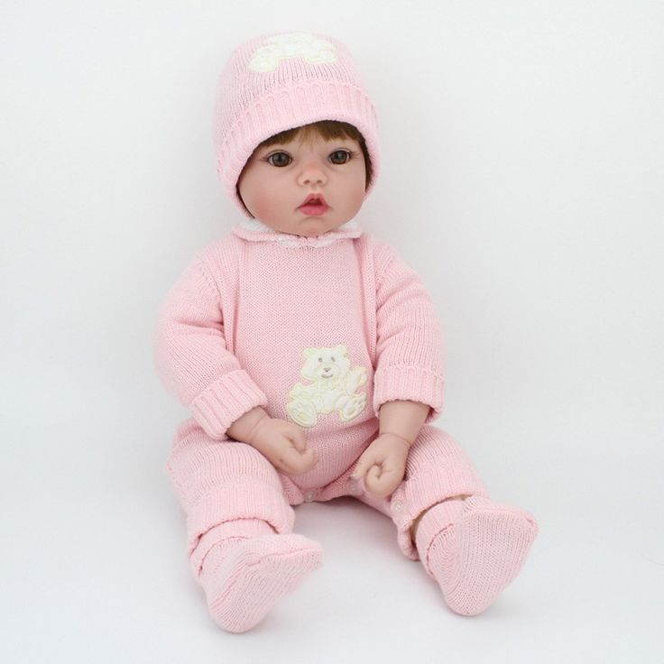 "Doll Reborn Soft Vinyl Babies For Girls Pink Romper Newborn Doll 20"" - American Girl"