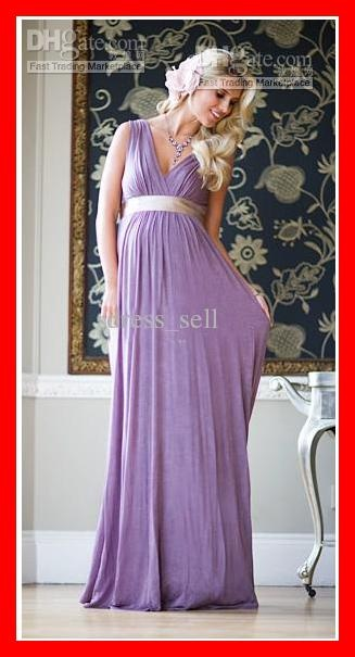 Wholesale New Classy Elegant Maternity Evening Dresses Maternity Formal Dresses V-Neck Ruffle Sheath Hot Sell, Free shipping, $106.4-127.68/Piece | DHgate