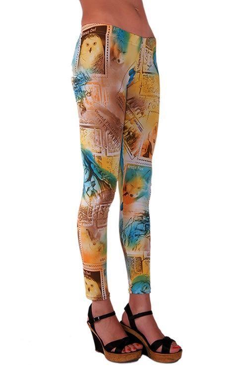 Büyük Beden Taytlar-American Indian Printed Tight - Baskılı Tayt| PembeGecelik.Com Renk: Emprime Desenli Beden: S, M ve L Fiyat: 36,62 TL