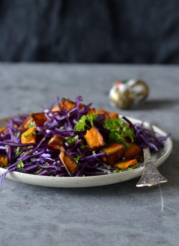 Rødkål græskar opskrift jul salat