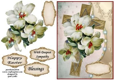 deepest sympathy on Craftsuprint designed by Gail Collins - a lovely cross and…
