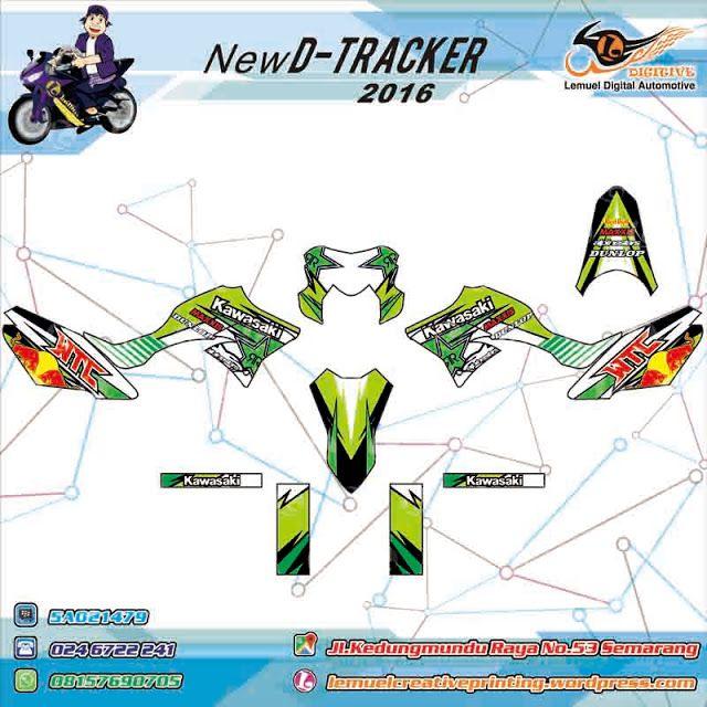 Custom Decal Vinyl Full Body Striping Motor Semarang Kawasaki KLX D-Tracker 150 Thema Supermotto Maxxis Berkualitas by DIGITIVE
