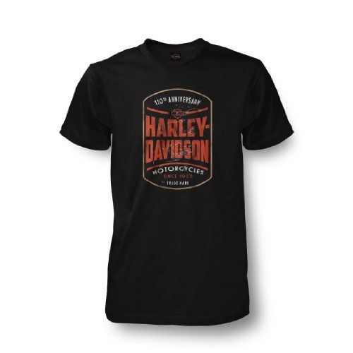 Harley davidson men s 110th anniversary commemorative for Shirts with graphics on the back