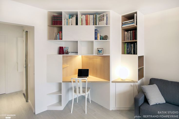 appartement des ann es 70 remis neuf batiik studio c t maison etag res et rangements. Black Bedroom Furniture Sets. Home Design Ideas