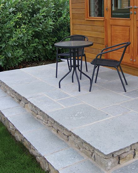 Teal Limestone Flagstones | Landscaping | Patio | Garden Path | Weathered Style Paving