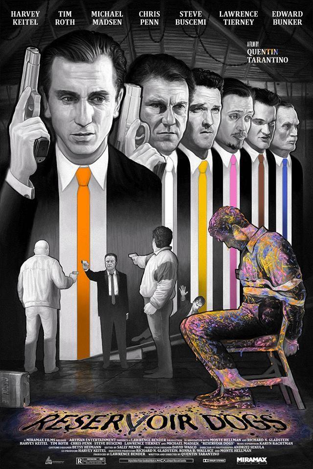 "kogaionon: "" Reservoir Dogs ""Bubblegum Pop"" by John Barry Ballaran / DeviantArt / Facebook / Twitter / Instagram / Store 24"" x 36"" 7 color screen print, edition of 60. Join this FB group if you want a..."