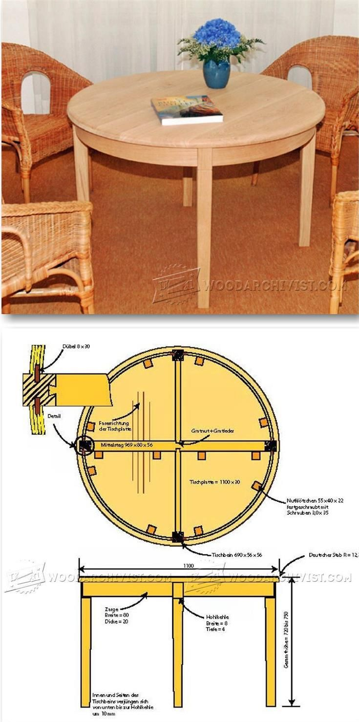 Round Table Plans - Furniture Plans and Projects | WoodArchivist.com