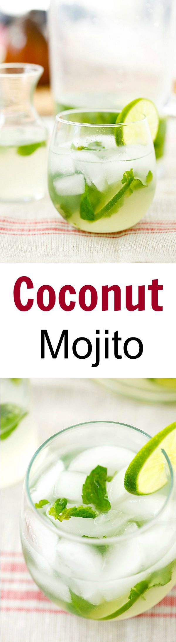 Coconut Mojito – Add tropical flavor to your regular mojito with this easy, healthy and refreshing coconut mojito recipe that takes only 10 mins to make! | rasamalaysia.com