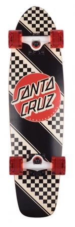 Check out the deal on 7.4in x 29.1in Check Stripe Jammer Santa Cruz Cruiser Skateboard at NHS Fun Factory