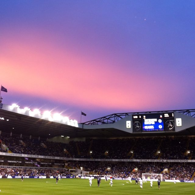 White Hart Lane, London.  Home of Tottenham Hotspur Football Club.