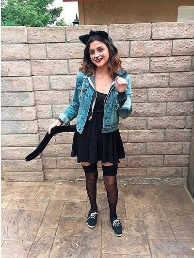 Disfraz casero de halloween para chica de gatita sexy #halloween #disfraces #manualidades #diy #costumes #crafts #mujer #woman #adult #cat #gato #kitten