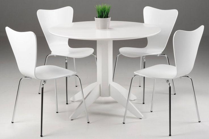 LUCA-pöytä halk.100cm ja PASTA-tuolit