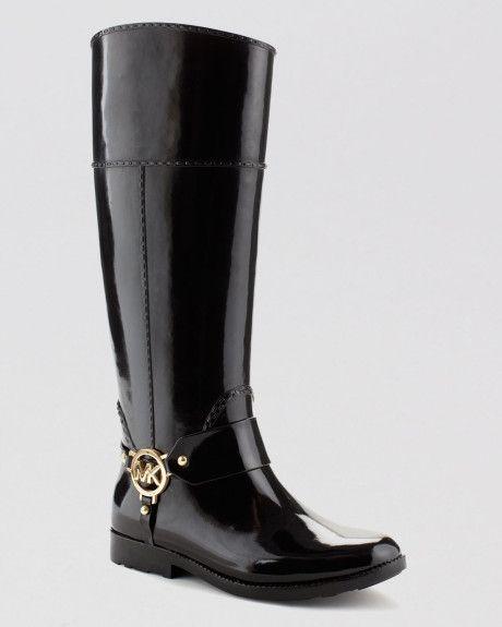 michael kors men rain boots   Michael Michael Kors Tall Harness Rain Boots Fulton in Black