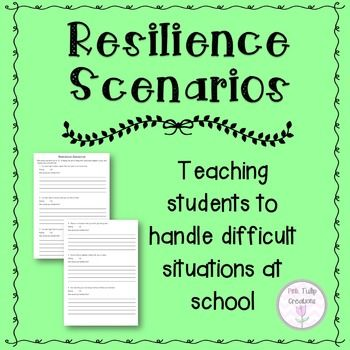 Contains 21 different scenarios to that students might come across at school.  This is to help students who lack the strategies needed to cope when things don't go their way.  It is designed to give students some perspective and teach them the essential life skills that they need to handle tricky situations.I created this to try and prevent the whinging and complaining that my students were doing when the smallest things did not go their way.