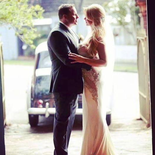 Our beautiful bride Rachel Burr in her custom Pallas Couture gown