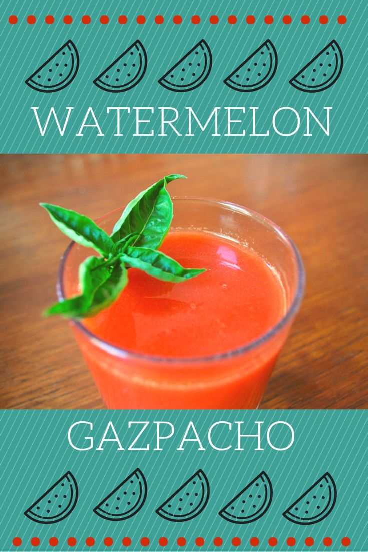 This recipe for watermelon gazpacho gives a unique and different twist on the more traditional gazpacho recipes. Substitute half the tomatoes you'd normally use with equal amounts of watermelon, and you've got a refreshing summer recipe that will leave you wanting more! http://devourbarcelonafoodtours.com/watermelon-gazpacho-recipe/