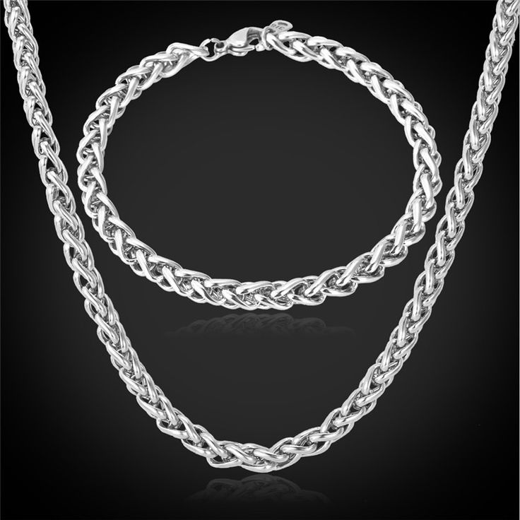 Cheap set ring, Buy Quality set test directly from China set wine Suppliers:                        316L Stainless steel Necklace Bracelet Men Chains Chunky Twisted Rope Popcorn 55CM Necklaces