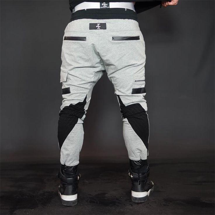 2017 Autumn Men's pants joggers Casual Elastic cotton Fitness Workout Pants harem pants men joggers motorcycle brand clothing #Affiliate