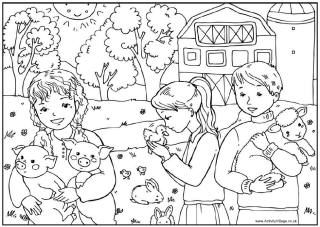Spring dieren kleurplaat, lente kleurplaten: For Kids, Animal Colour, Spring Animal