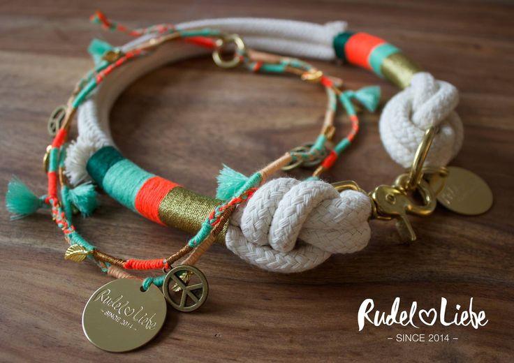Rudel Liebe Hundehalsband aus Tauwerk #hundekette #hund #halsband #dog #hippie #hundehalsband #hundeleine #hunde #dogs #rudelliebe #boho