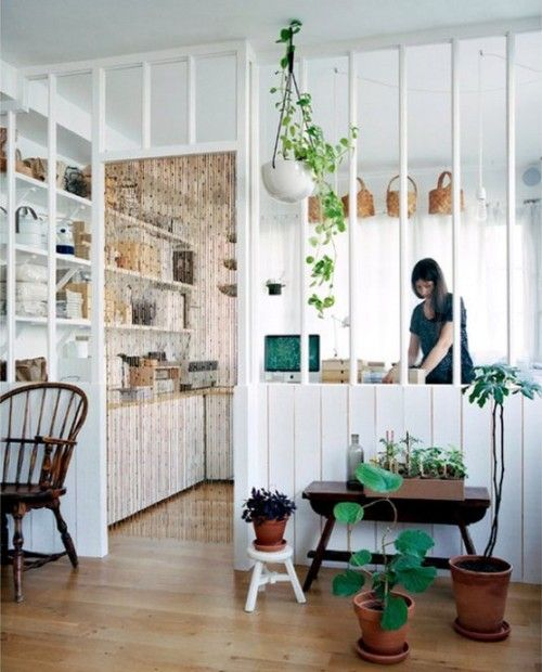"""love the concept of """"open space"""" but still having definiet room seperation.  I think I like this for my kitchen/living rom wall."""