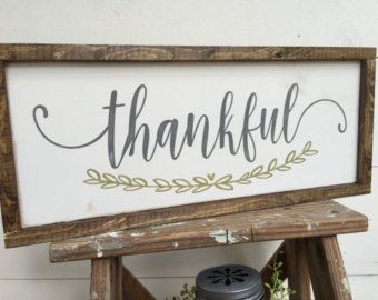 2 Sided Thankful We Believe Double Hand Painted Wooden Sign