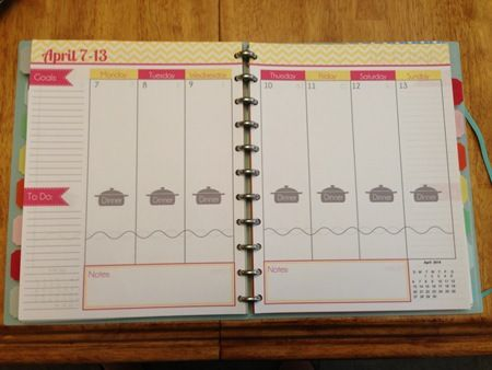 make your own planner with free (& paid) printables.  this is an example of someone's.