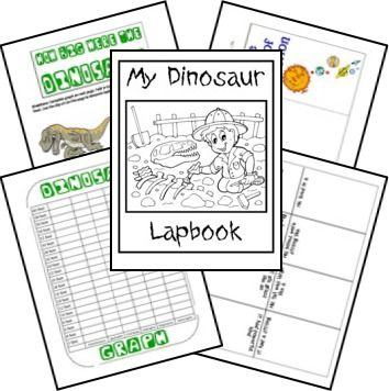 Creation Based Dinosaur Resources (FREE Dinosaur Lapbook Printables)   The Happy Housewife