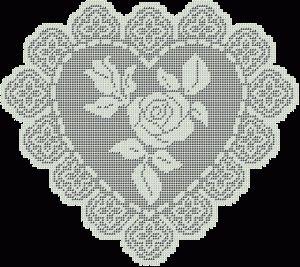 Heart doilies more here